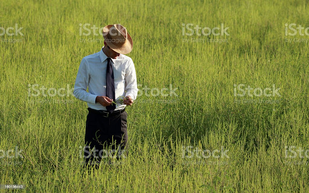 Farmer in his own country estate royalty-free stock photo
