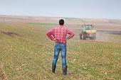 istock Farmer on farmland 467975260
