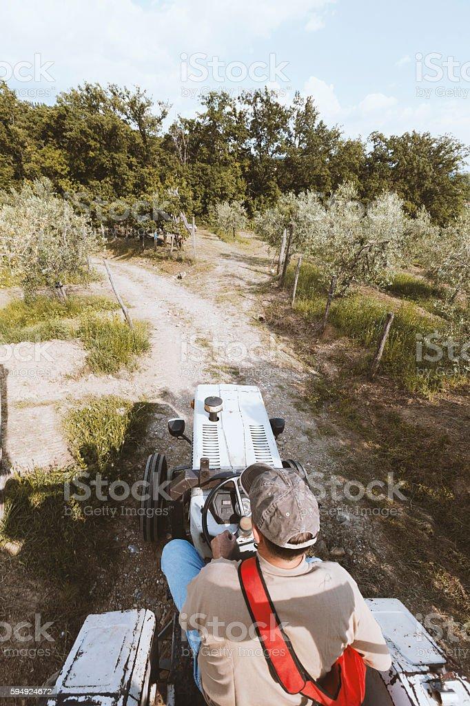 Agricoltore sul Trattore - foto stock