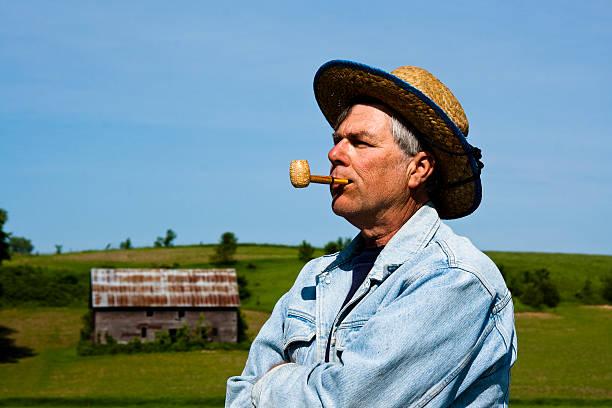 farmer portrait stock photo