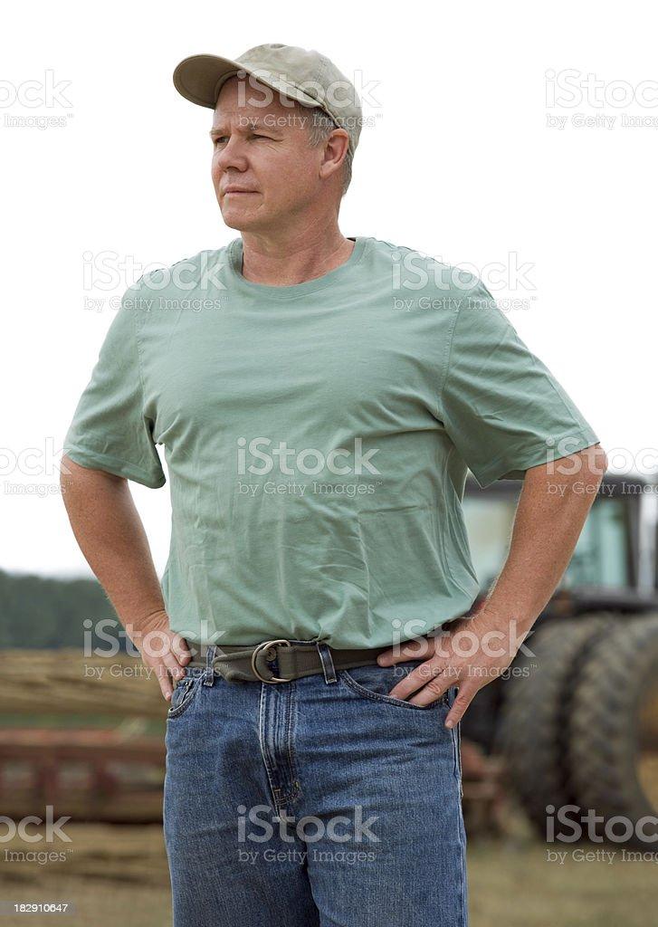 Ferme avec tracteur portrait - Photo