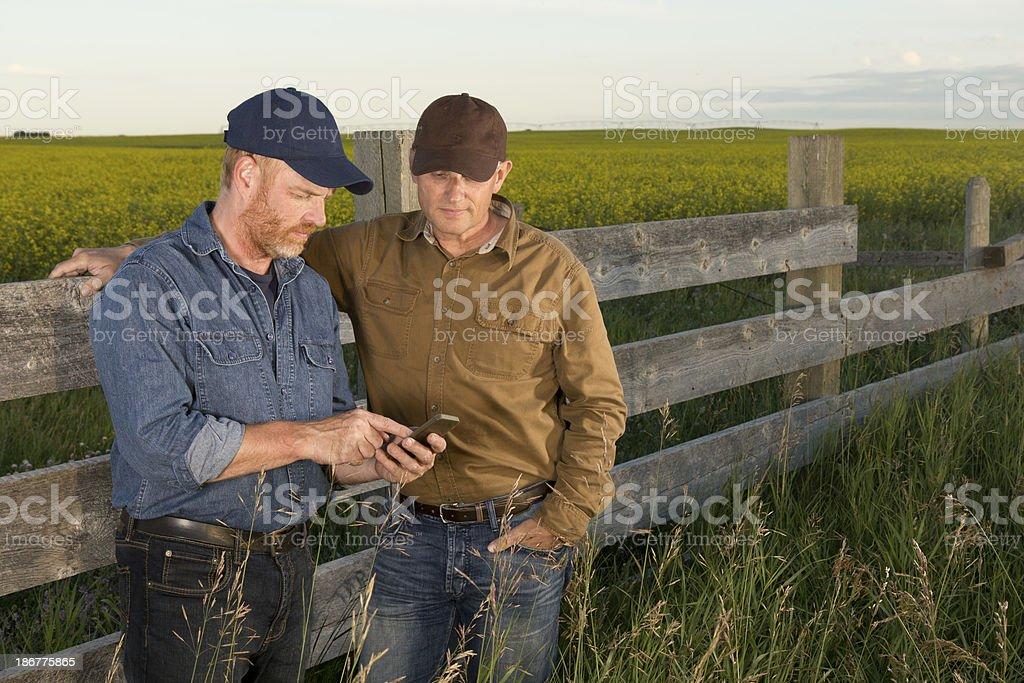 Landwirte und Technologie – Foto
