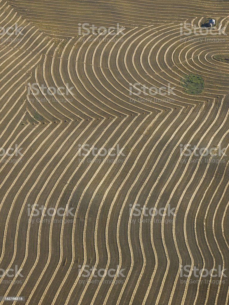 Farmers Field Aerial Photo royalty-free stock photo