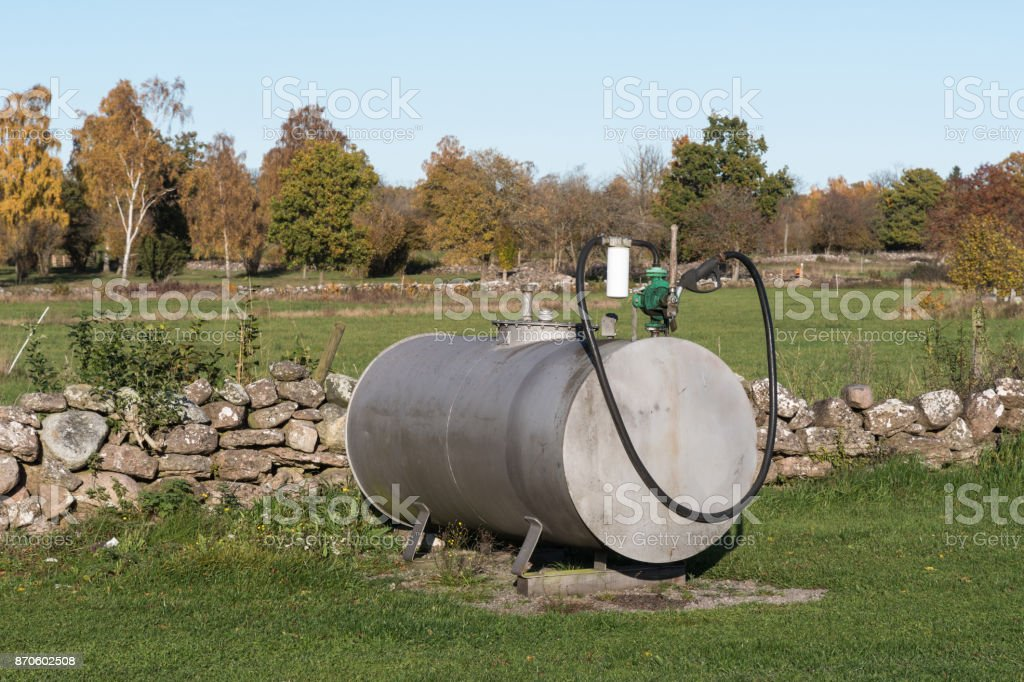 Farmers fuel tank stock photo