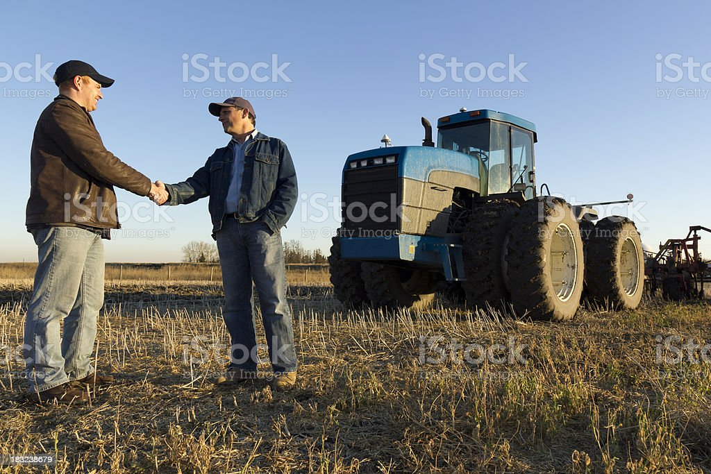 Farmer's Handshake royalty-free stock photo