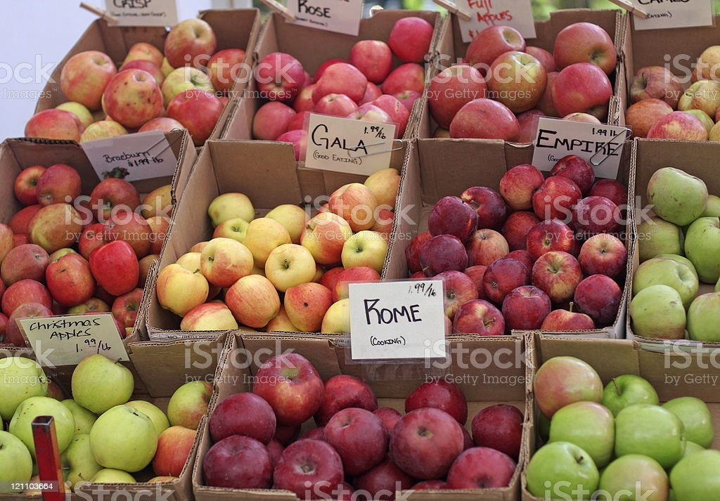 Farmer's Market Apples stock photo