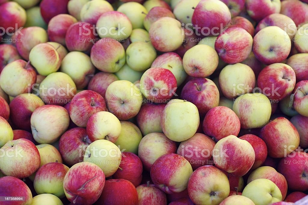 Farmers market apples stock photo
