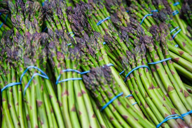 Farmer's market asparagus stock photo