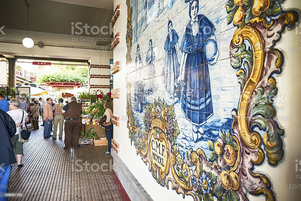 Mercado dos Lavradores ,Azulejo,  Funchal, Madeira. royalty-free stock photo