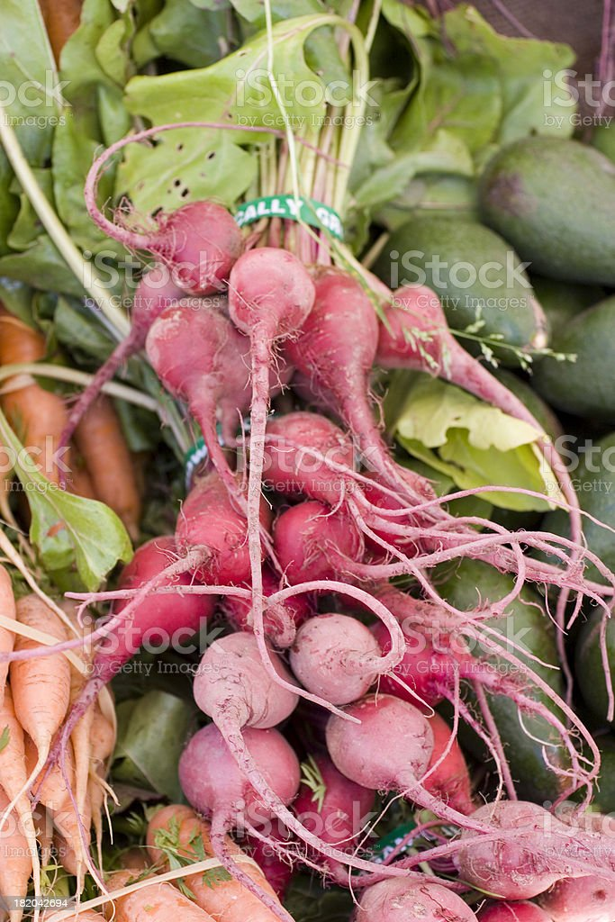Farmers Market: Beets royalty-free stock photo