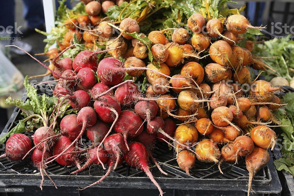 Farmers Market: Beets stock photo