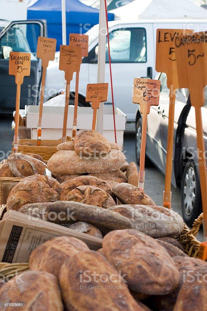 Farmers Market: Breads royalty-free stock photo