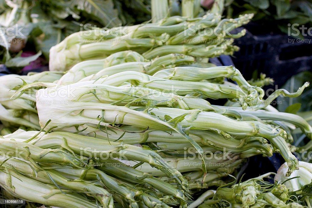 Farmers Market: Cardoons stock photo