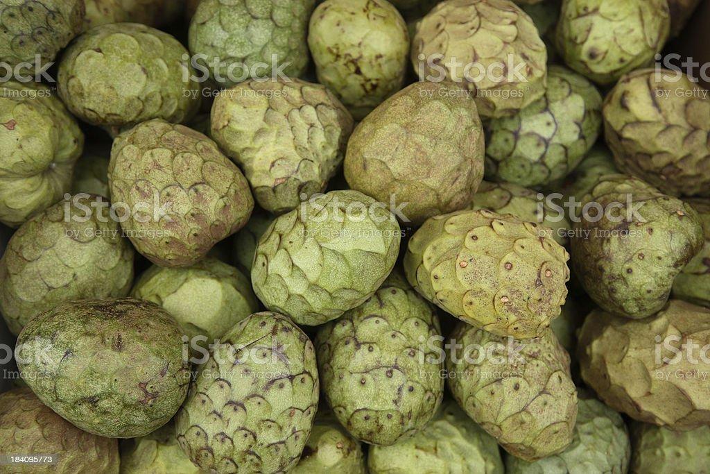 Farmers Market: Cherimoya stock photo