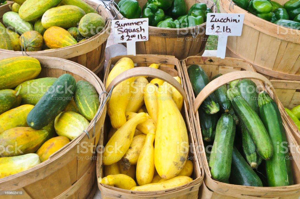 Farmers Market Display stock photo
