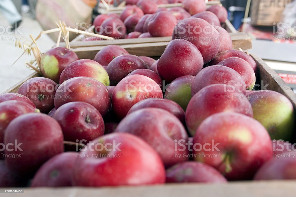 Farmers Market: Fall Apples royalty-free stock photo