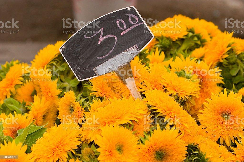 Farmers Market Flowers royalty-free stock photo