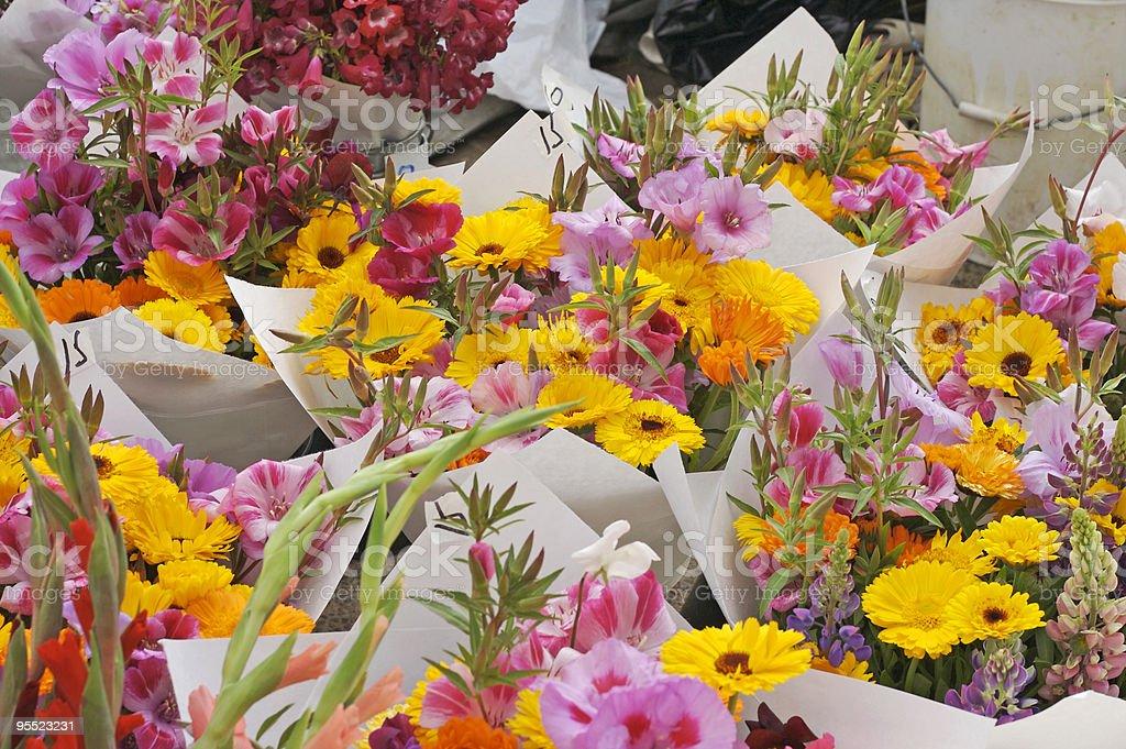 Farmer's Market Flowers stock photo