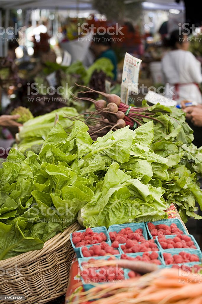 Farmers market fruits and vegetables, Montreal royalty-free stock photo