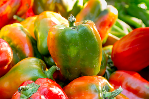 Farmers Market Fruits And Vegetables Stock Photo - Download Image Now