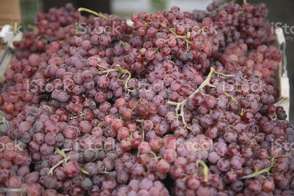 Farmers Market: Grapes royalty-free stock photo
