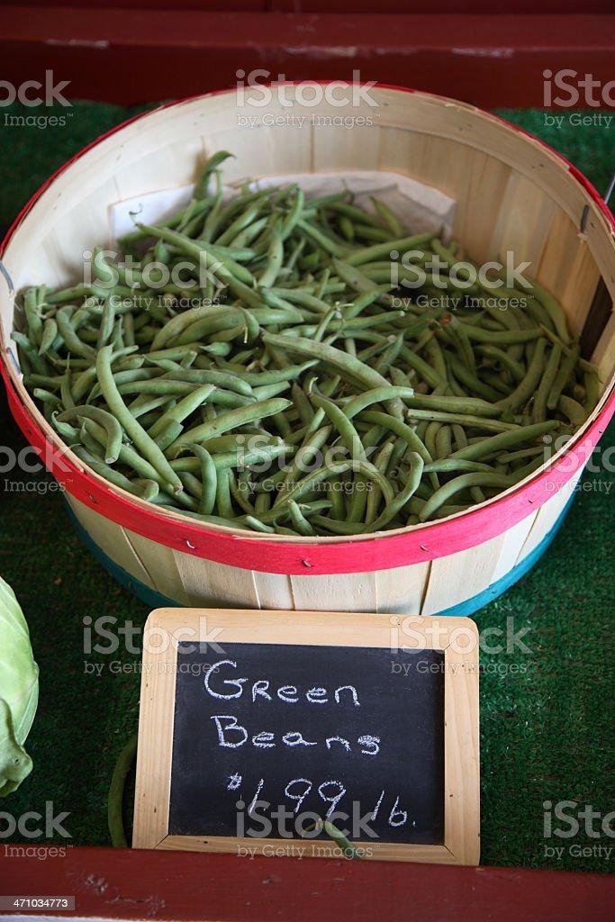 Farmers Market: Green Beans royalty-free stock photo