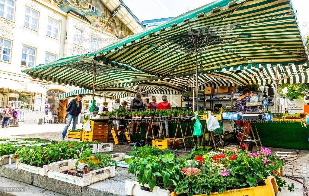 mercado de agricultores, en bad Tölz - Alemania - Foto de stock de Agricultor libre de derechos