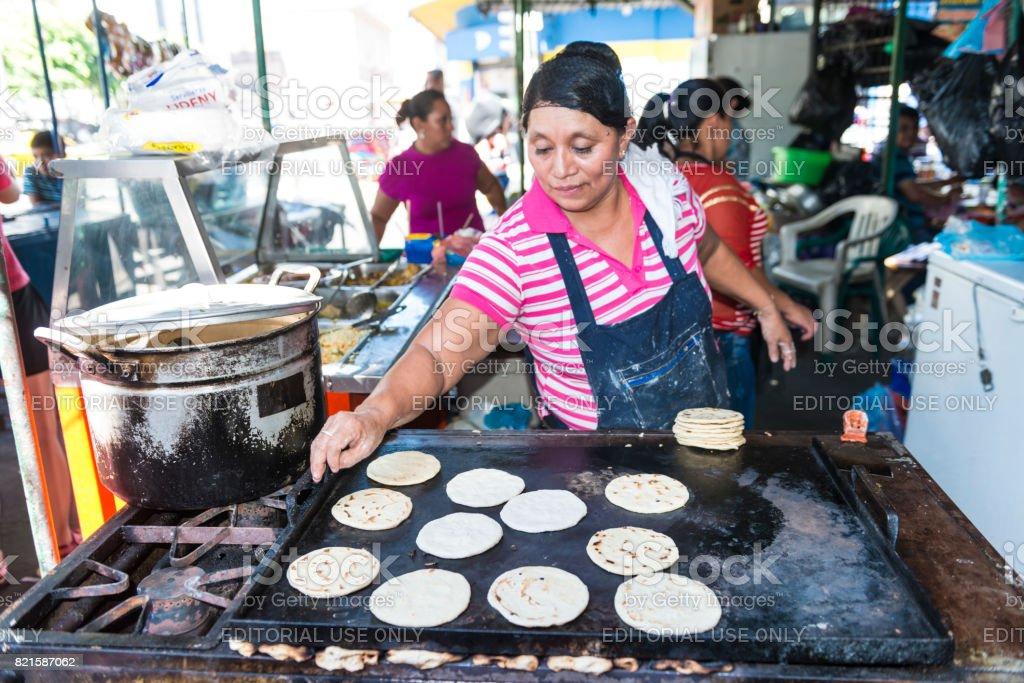 Farmers market in El Salvador stock photo