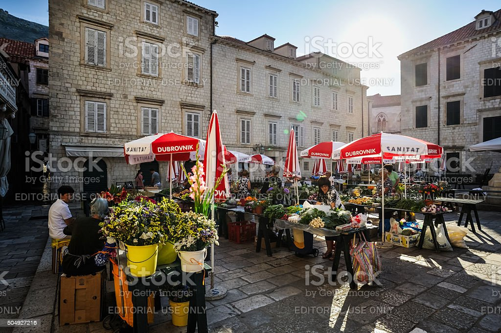 Farmer's Market in die Altstadt von Dubrovnik – Foto