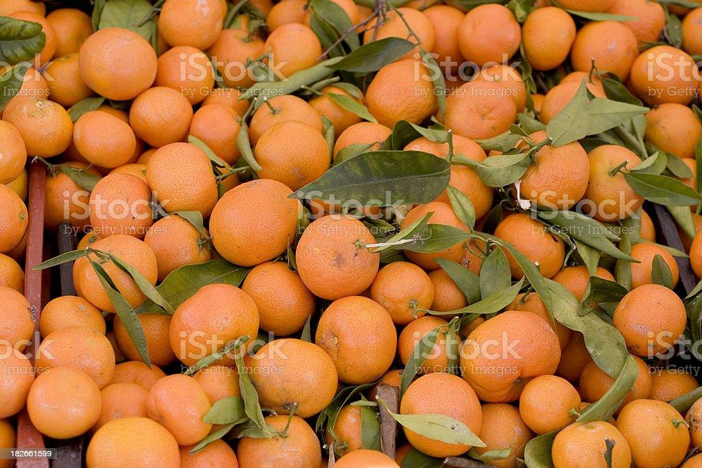 Farmers Market: Mandarin Oranges royalty-free stock photo