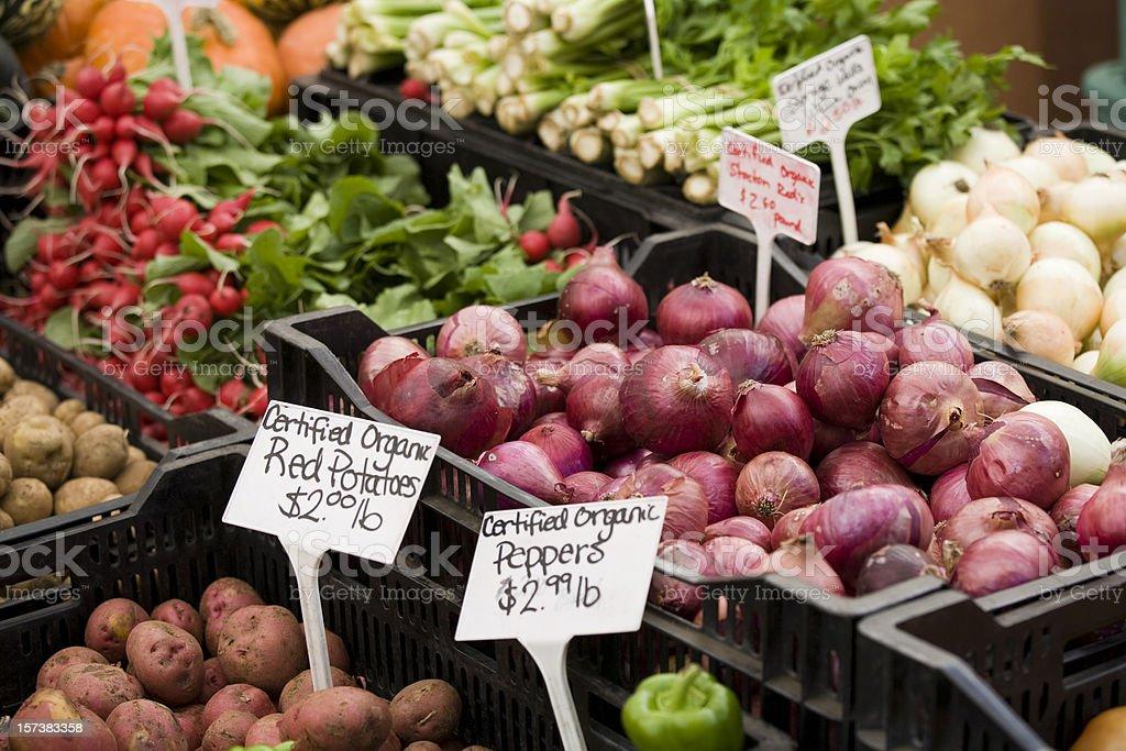 Farmers Market Organic Vegetables royalty-free stock photo