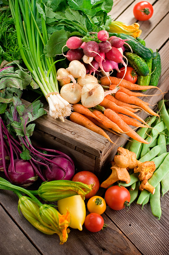 Farmers Market Organic Vegetables Stock Photo - Download Image Now