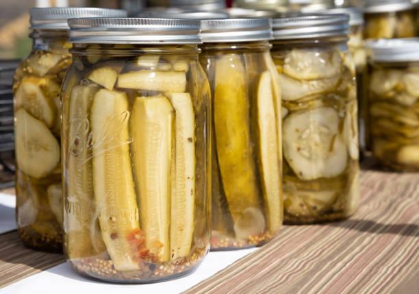 Farmer's Market Pickles stock photo