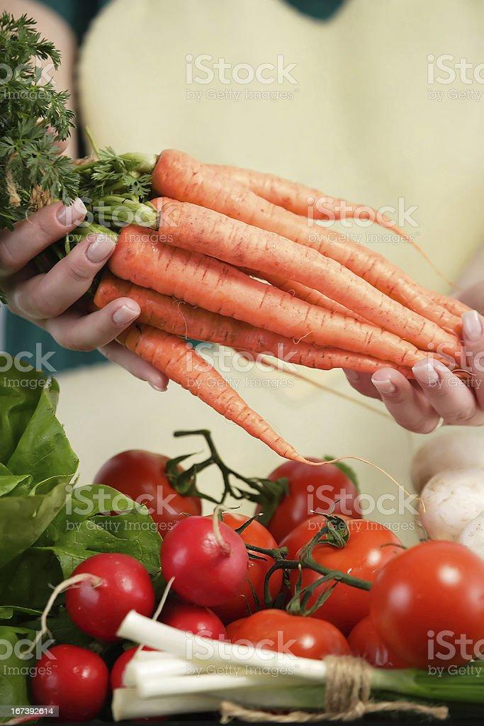 Farmers' market stock photo