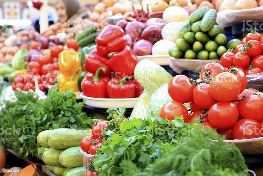 Farmer's market. royalty-free stock photo