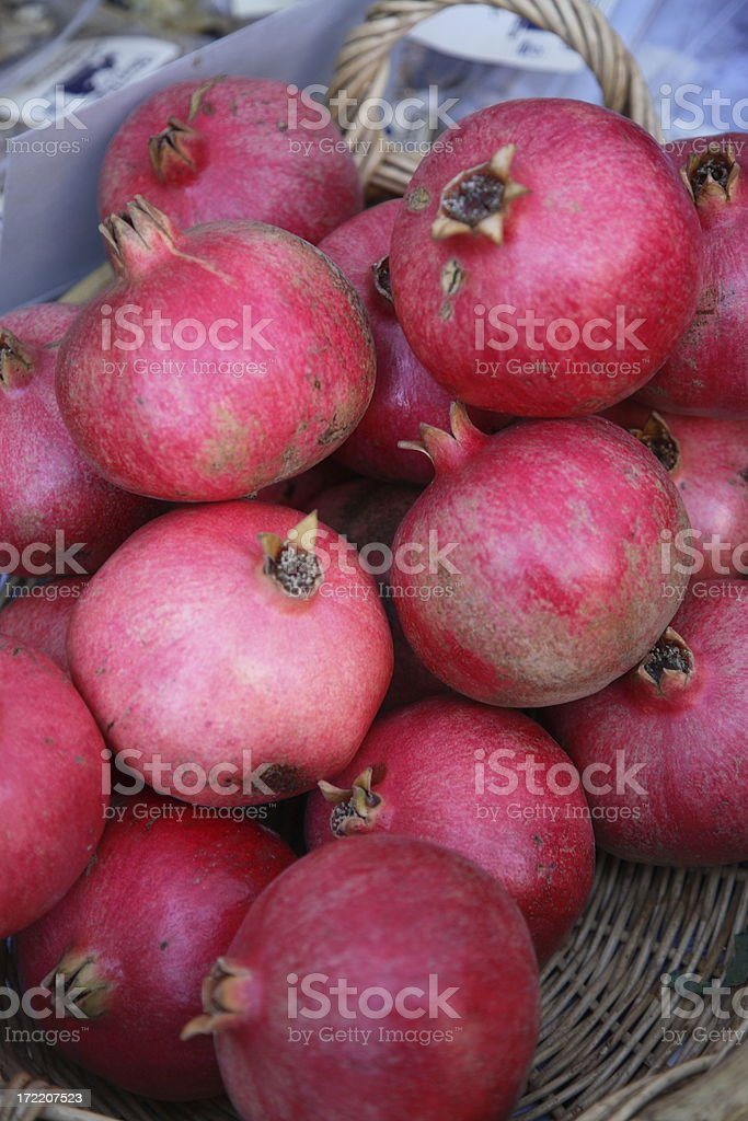 Farmers Market: Pomegranate royalty-free stock photo
