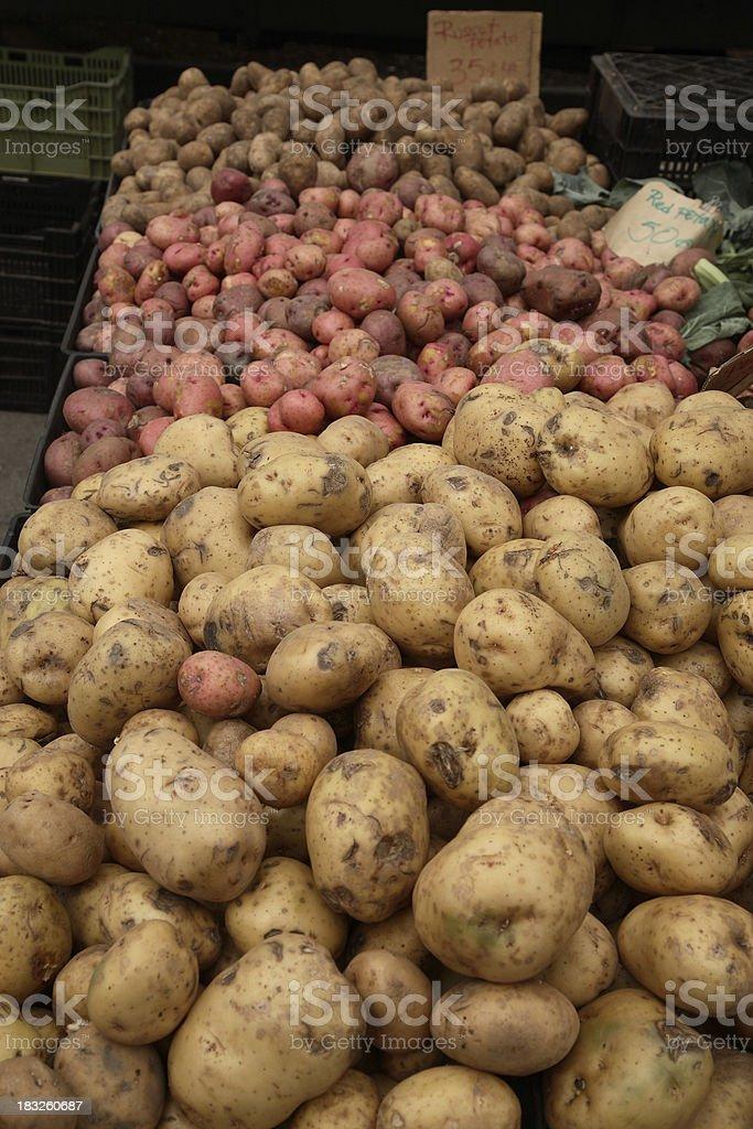Farmers Market: Potatoes royalty-free stock photo