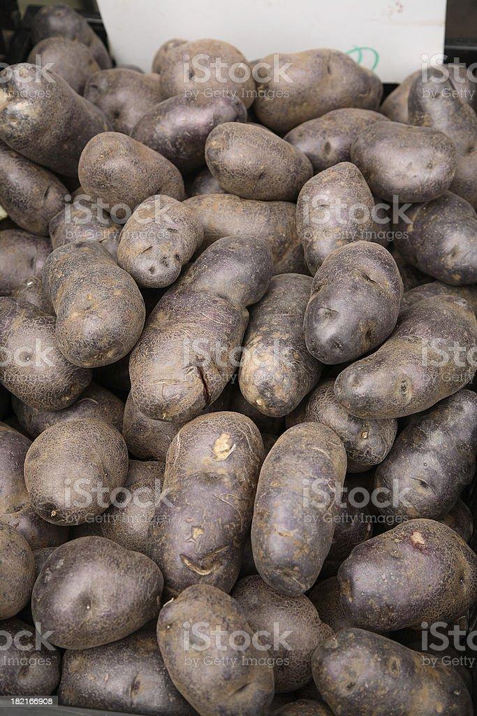 Farmers Market: Purple Potatoes royalty-free stock photo