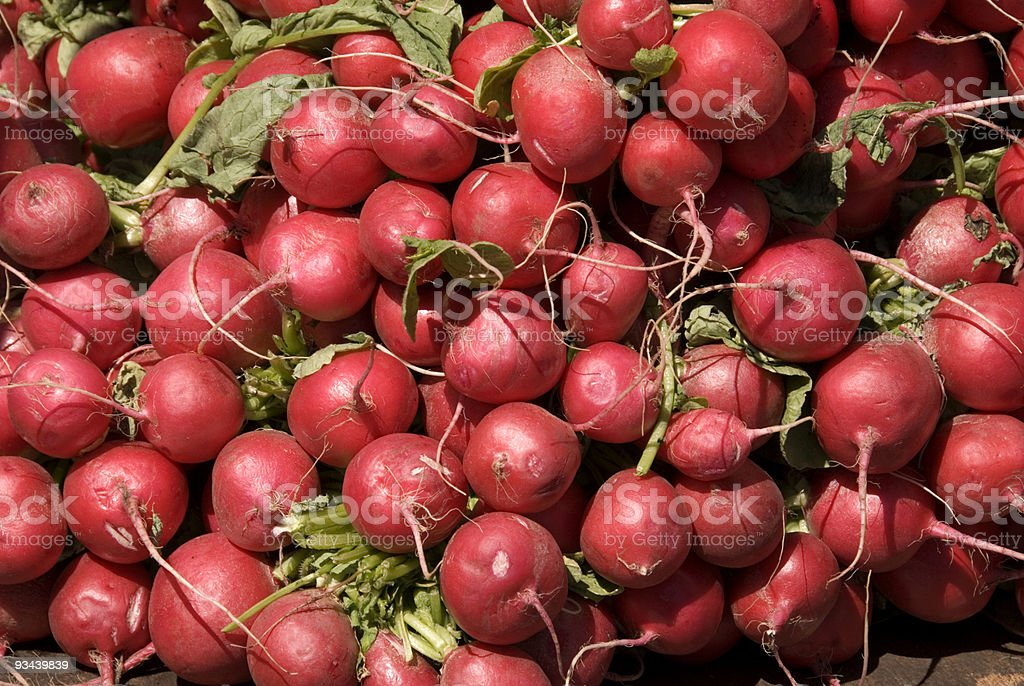 Farmer's Market Radishes stock photo