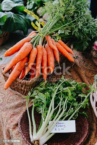 Vegetables at a local farmers market.