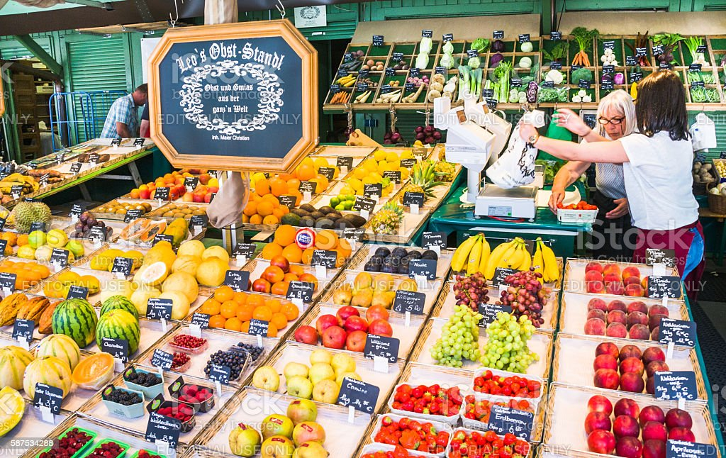 Farmers Market Shopping stock photo