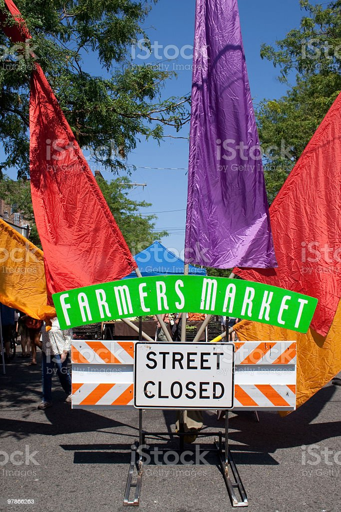farmers market sign stock photo