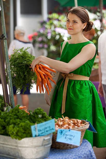 Farmer's Market Vegetables stock photo