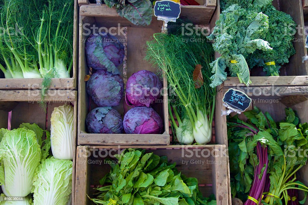 farmer's markets vegetables stock photo