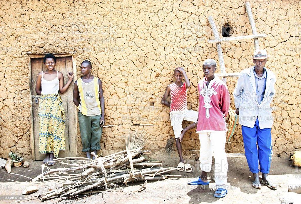 Farmers of a Rwandan Co-op stock photo