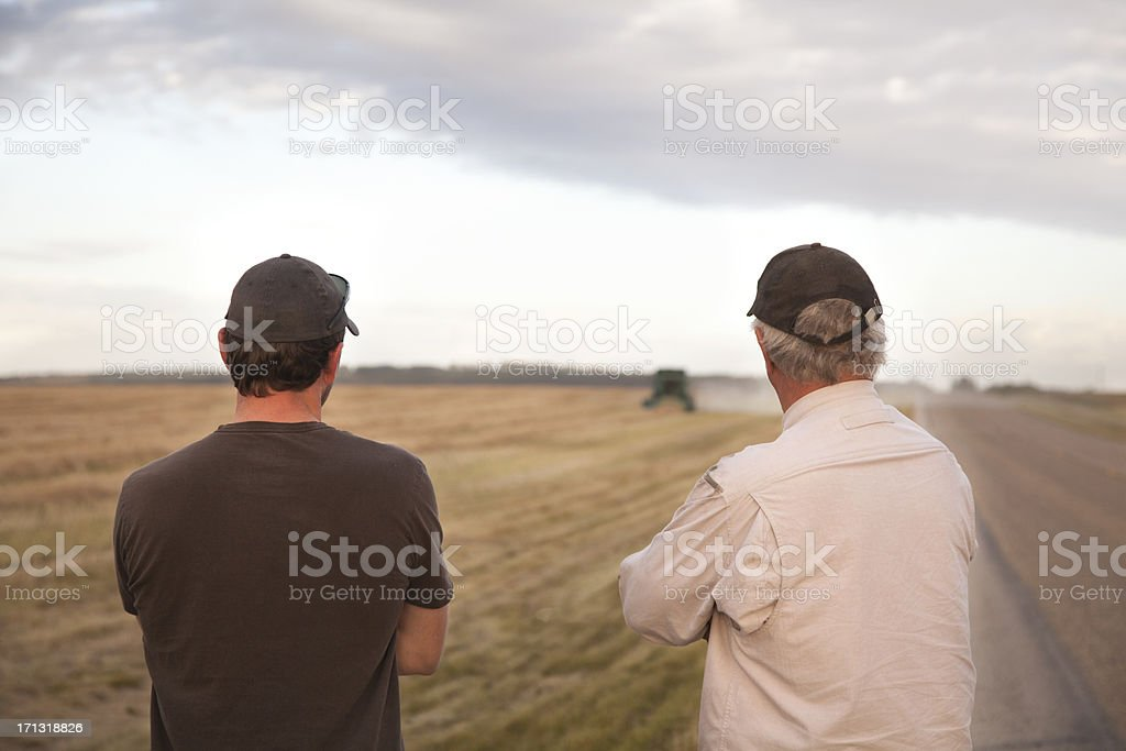 Farmers Outstanding In Their Field stock photo