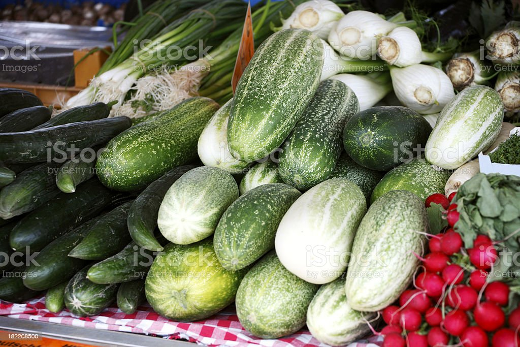Farmer's Vegetable Market royalty-free stock photo