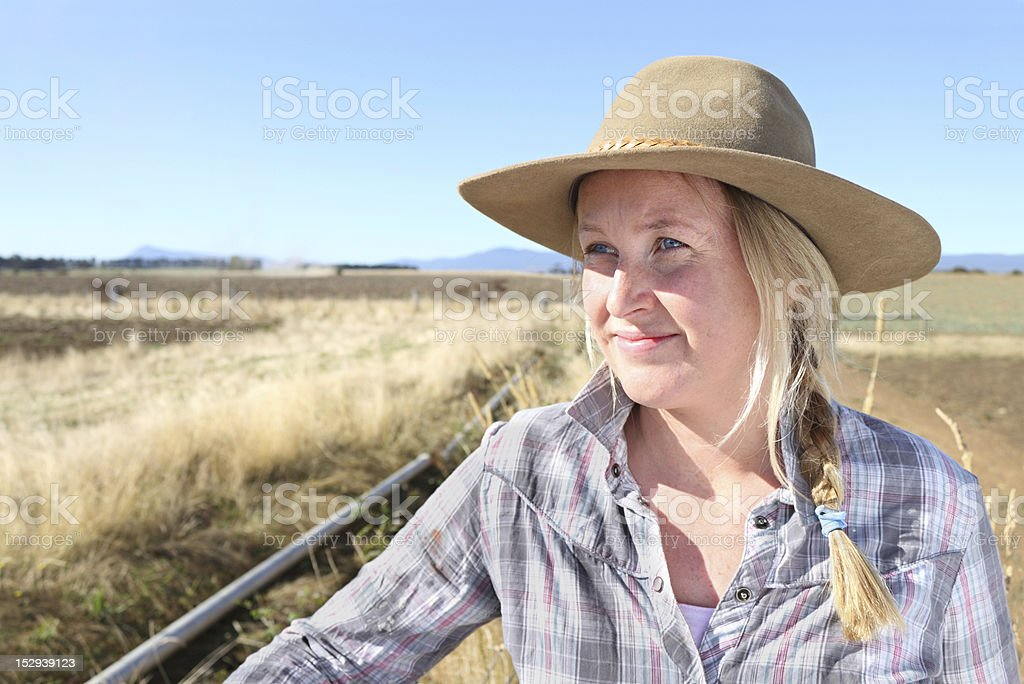 Farmer's Wife in a Drought stock photo