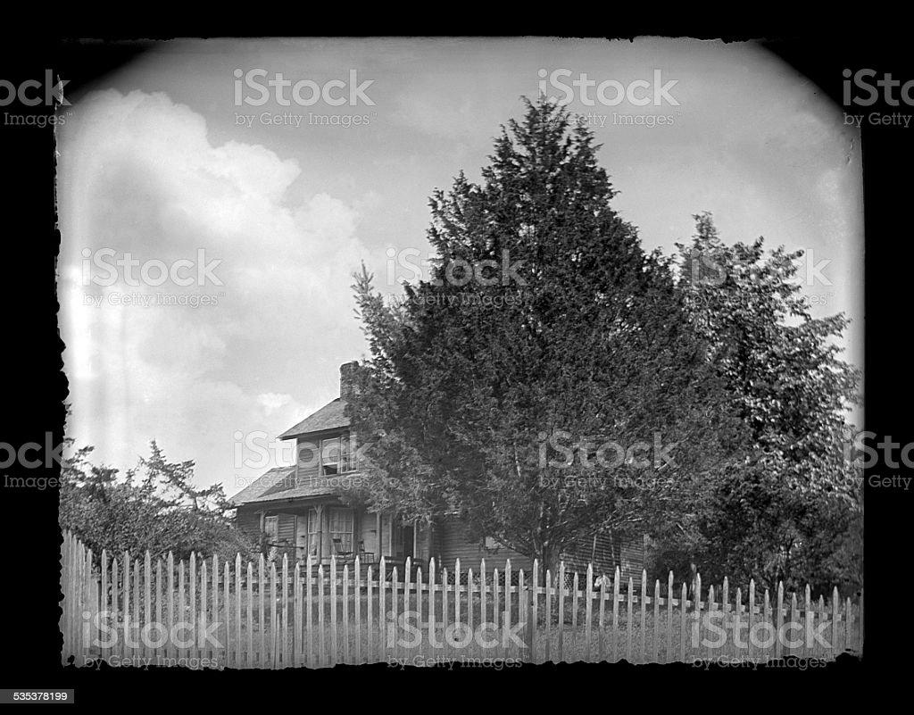 Farmhouse, Circa 1890 stock photo