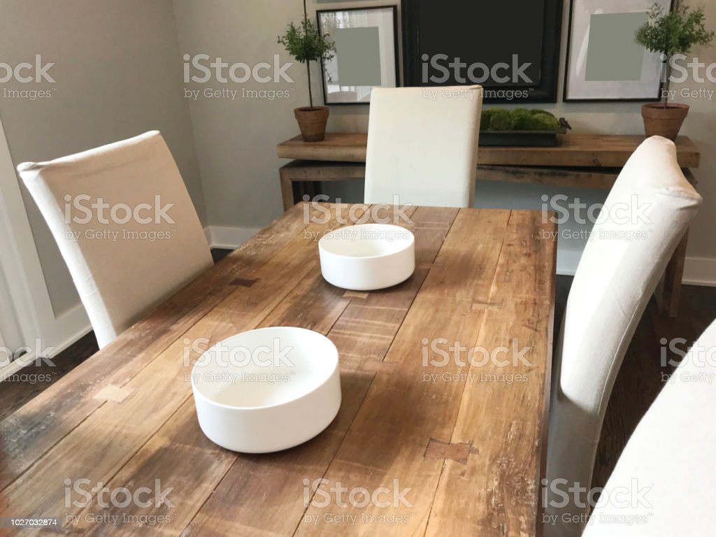 Farmhouse Dining Table Stock Photo More Pictures Of Apartment